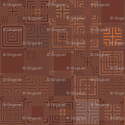 Chocolate Brown Patchwork