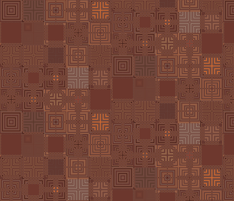 Chocolate Brown Patchwork fabric by gingezel on Spoonflower - custom fabric
