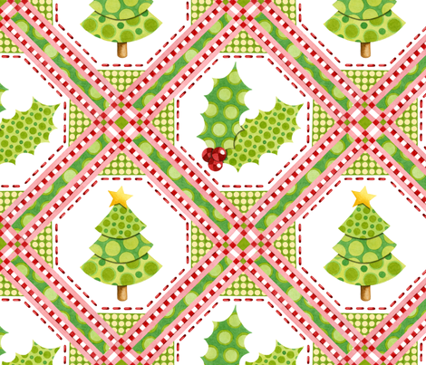 Christmas Polka Dot Tree fabric by patriciasheadesigns on Spoonflower - custom fabric