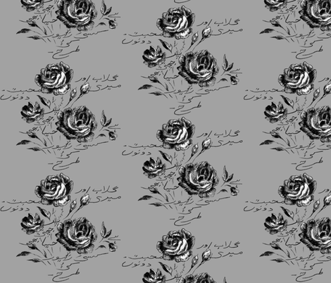 Roses and My Love fabric by hummingbird-stitch on Spoonflower - custom fabric