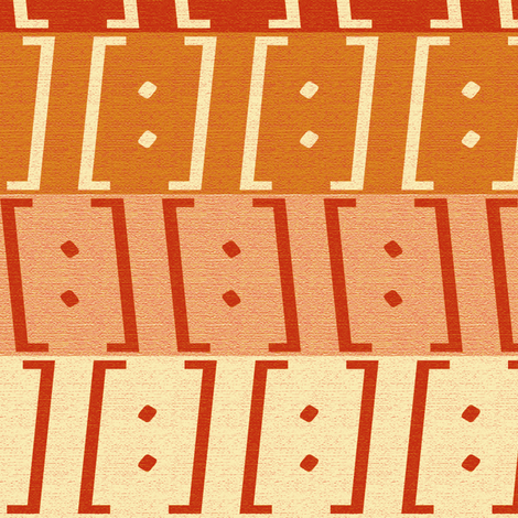 Brackets Red Orange fabric by kimberly_guccione on Spoonflower - custom fabric
