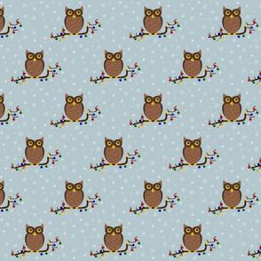 little owls - Christmas