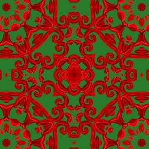 Udaipur Window in Christmas Tile Design