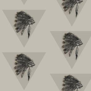 Indian //  Head dress monochrome // tribal // nicholefranklindesigns