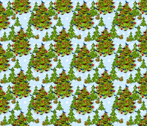 Woodland Christmas 2 fabric by bags29 on Spoonflower - custom fabric