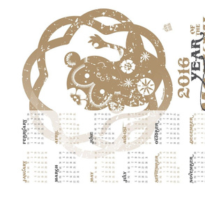 2016 Calendar: Year of the Monkey