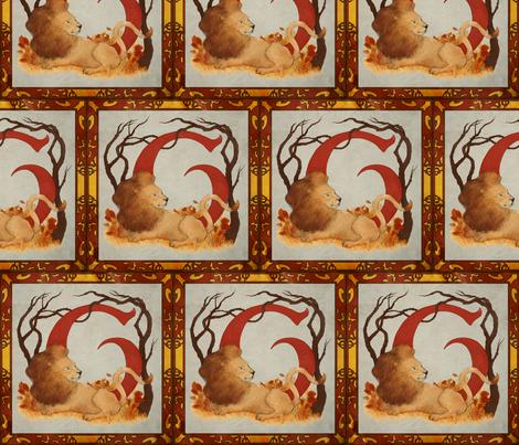 Illuminated Lion House fabric by crystinawilliams on Spoonflower - custom fabric