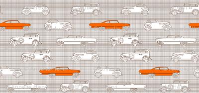 Vintage Cars Brown & Orange