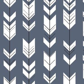 Fletching arrows // dark blue
