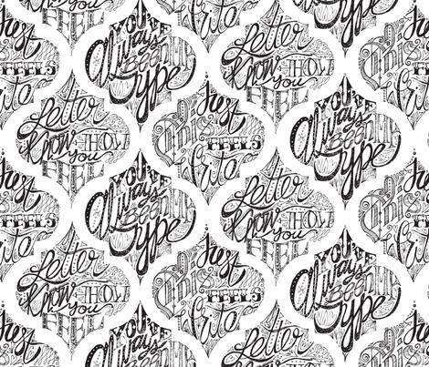 Lattice Love Letters fabric by sammyk on Spoonflower - custom fabric