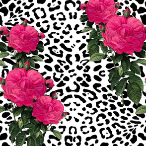 Hot Pink And Black Fabric Wallpaper Gift Wrap Spoonflower