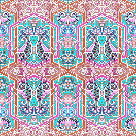 Pyschedelic Mermaid Experience fabric by edsel2084 on Spoonflower - custom fabric