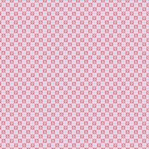Red Circle Tile - Pink