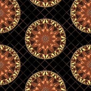 Copper and Gold Kaleidoscope Dots