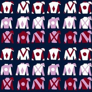 Jockey Silks, Navy, Small Scale