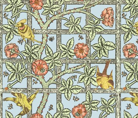 William Morris ~ Trellis fabric by peacoquettedesigns on Spoonflower - custom fabric