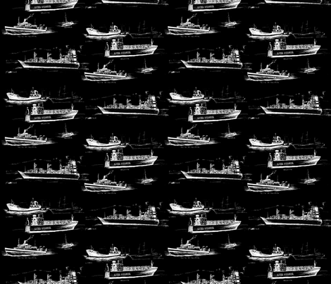 Mediterranean Ships fabric by shortikkins on Spoonflower - custom fabric