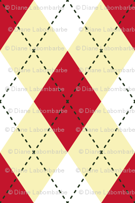 Argyle  Red & Yellow