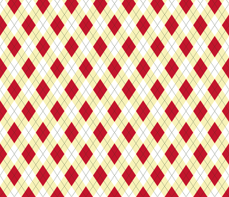 Argyle  Red & Yellow fabric by diane555 on Spoonflower - custom fabric