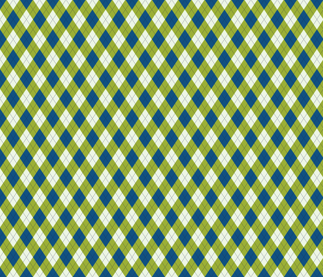 Argyle in Blue & Green fabric by diane555 on Spoonflower - custom fabric