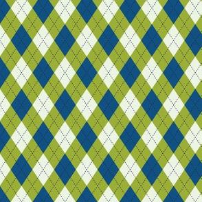 Argyle In Blue Green