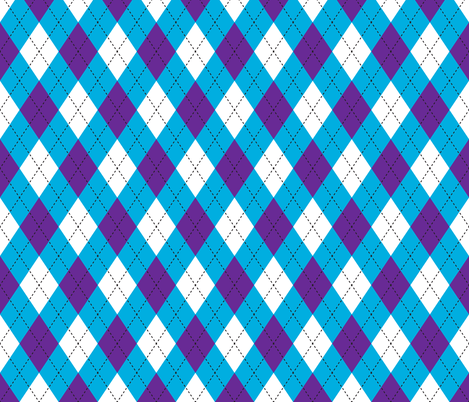 Argyle Blue & Purple fabric by diane555 on Spoonflower - custom fabric