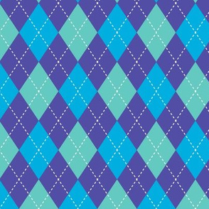 Argyle Blue & Purple