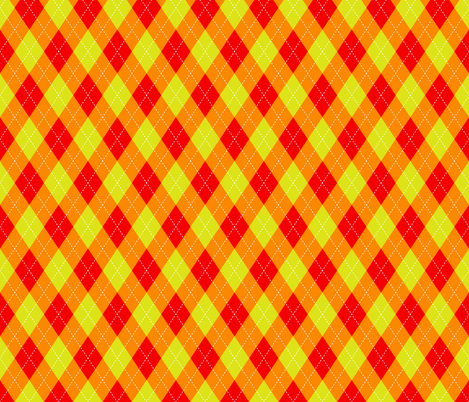 Argyle Red & Orange  fabric by diane555 on Spoonflower - custom fabric