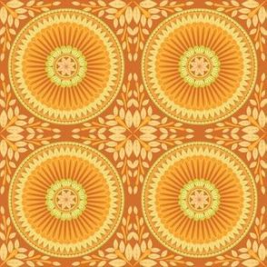Orange Floral Medallion