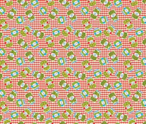 Pickle Jars On A Picnic Background  fabric by diane555 on Spoonflower - custom fabric