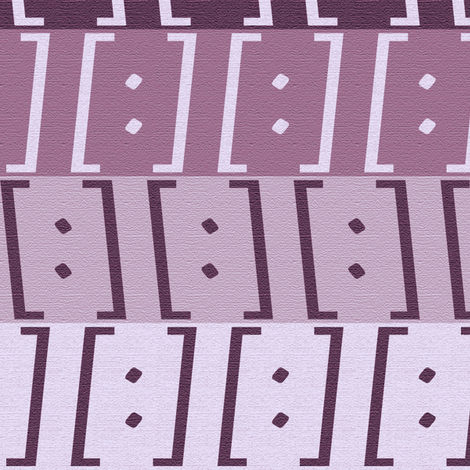 Brackets Violet fabric by kimberly_guccione on Spoonflower - custom fabric
