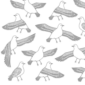 Ancient Egyptian Bird Fabric
