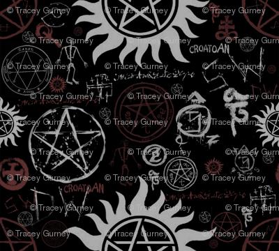 Supernatural Symbols Black