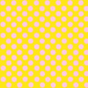 Santa's Wonderland Polka Dot Christmas Yellow/Pink-ch