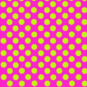 POlka Dots Lime/Pink