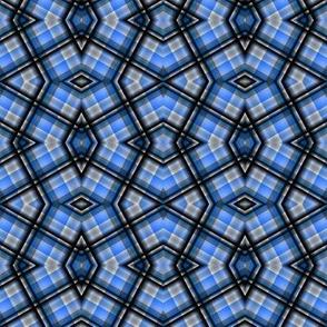 blue plaid