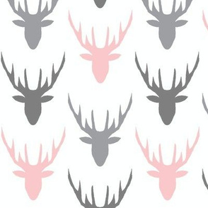 deers grey grey pink