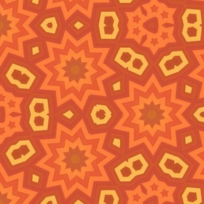 Orange Stars Retro Geometric
