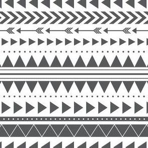 Charcoal Arrows Pattern