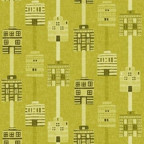Acid yellow woven house stripes by Su_G