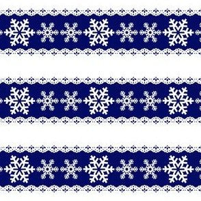 Noel Snow Flakes Horizontal
