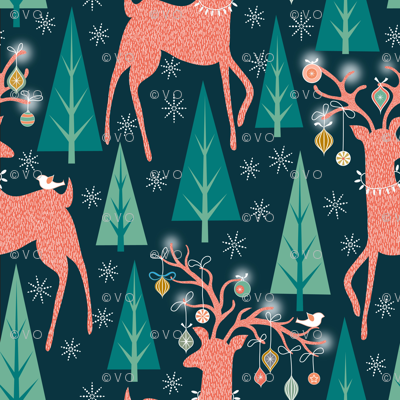 Forest Ornaments Small print