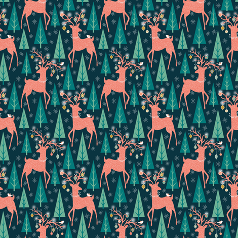 Forest Ornaments Small print fabric by vo_aka_virginiao on Spoonflower - custom fabric