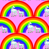 unicorns_and_rainbow_with_pink_background