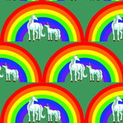 unicorns_and_rainbow_with_darkish_green_background