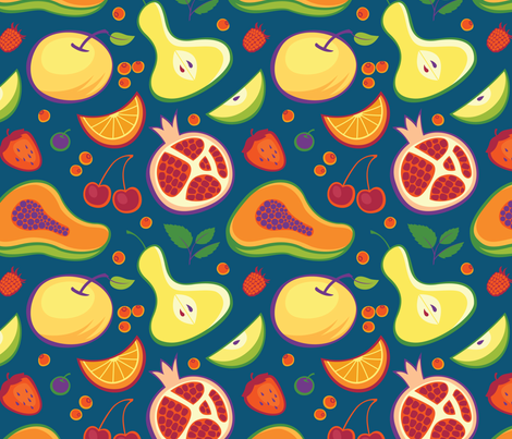 Fruity splash fabric by sonyara on Spoonflower - custom fabric