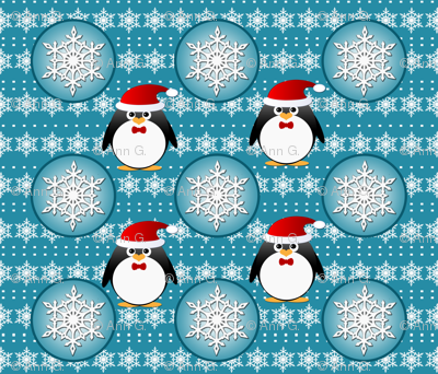 Snowflake Penguins Pattern