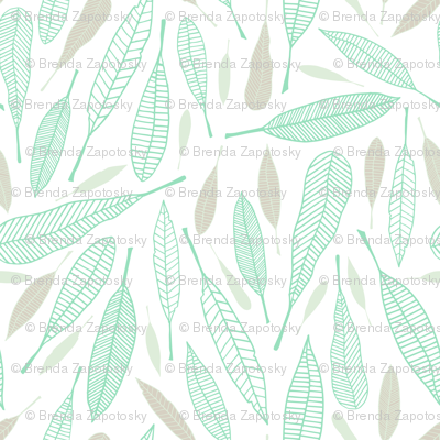 Fanciful Feathers Icy (Serene)
