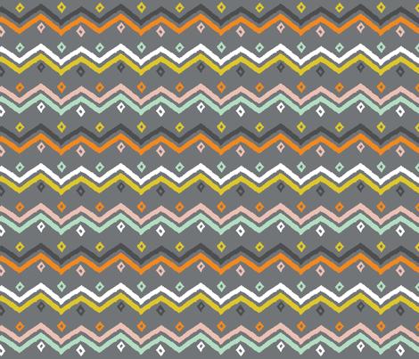 Blanket Stripe grey fabric by jillbyers on Spoonflower - custom fabric