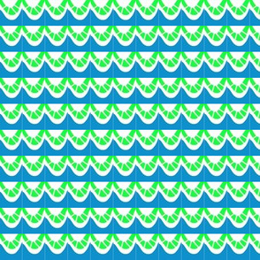 Wonky Swags Blue Green